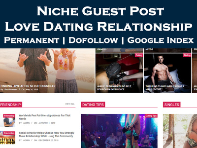 Write and Publish Guest Post on Love Dating Relationship Blog