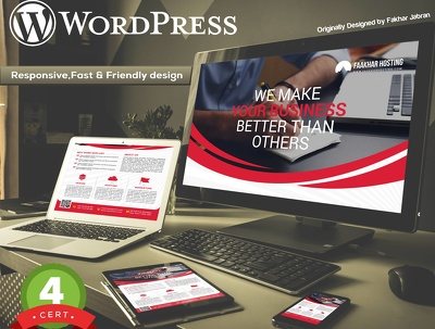 Design Responsive, SEO friendly & Fast Loading WordPress website