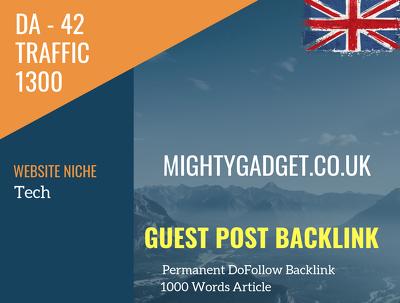 UK Tech Related 1300 Traffic 42 DA Guest post link