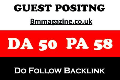 Publish guest post on Bm Magazine, Magazine.co.uk