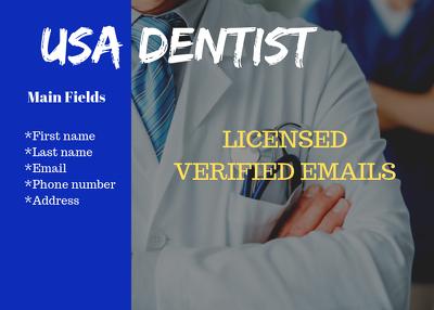Provide USA Dentist Valid Email Database