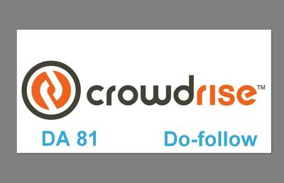 Write & Publish Guest Post on www.crowdrise.com DA 81 Dofollow