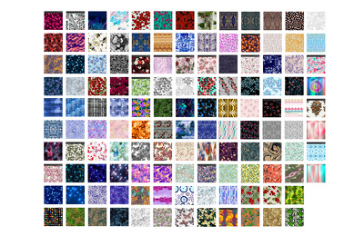 Design bespoke full-repeat surface textile fabric pattern