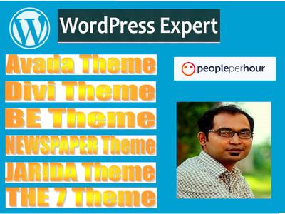 Your divi, avada, betheme, the7, newspaper, jarida theme expert