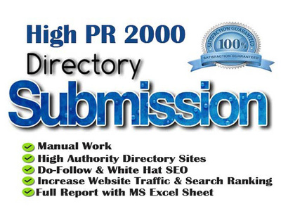 Rank Your Website Google #1 by 2000 Directory Submission Links