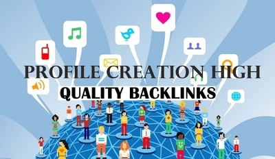 Create 200 High DA social profiles or profile creations backlink
