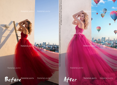 Create High quality Magazine Retouch on 1 studio image