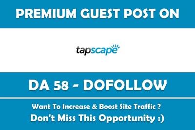 Publish a Guest Post on My Technology Blog. Tapscape.com - DA 60