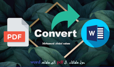 Convert any PDF files to word or excel