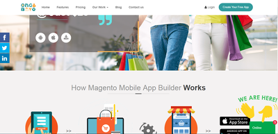 Develop an iOS and Android app for a Magento 1.9 website