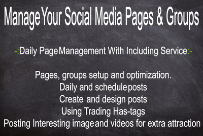 Manage your social media pages and groups