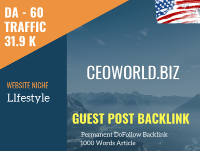 USA LIfestyle Related 31900 Traffic 60 DA Guest post link