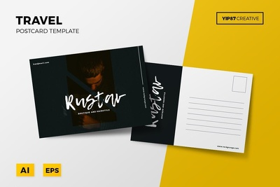 Design awesome postcard for you