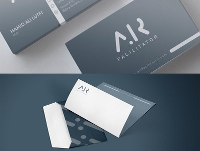 Design a minimal wordmark logo, business card and letterhead