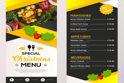 Design A Attractive Restaurant Menu