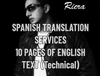 Translate 10 english to spanish text pages (Technical)
