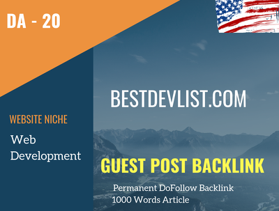 USA Web Development Related 20 DA Guest post link