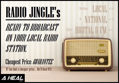 Write & compose tailored Radio Jingle - READY TO BROADCAST.