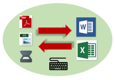 Type 20 pages of (PDF-Photo) file into (Excel or Word)