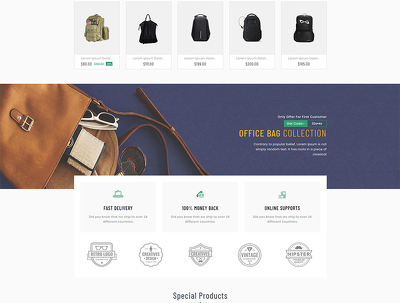 Design e-commerce template or website