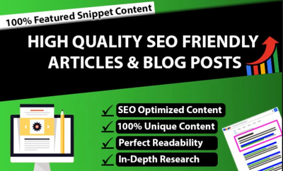 Write Articles And Blog Posts Or Content