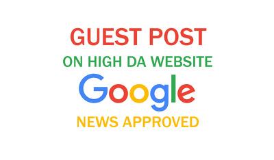 Publish guest post on 59 DA  google news approved website