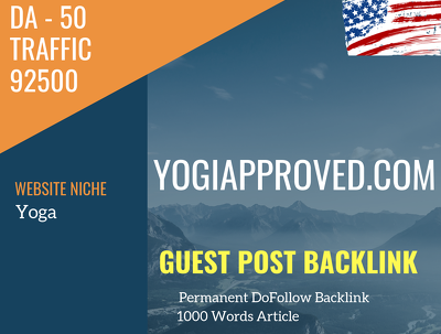 USA Yoga Related 92500 Traffic 50 DA Guest post link