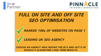 Complete SEO Optimisation For Your Website - Dominate Now!!