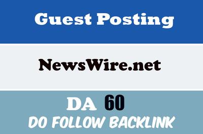 Publish Guest Post on Newswire - Newswire.net  Do Follow