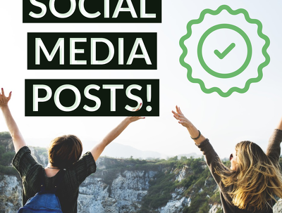 Design 3 Appealing Social Media Quote Posts, Ads, Typography