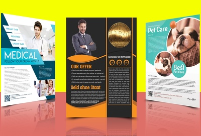 Design flyers, posters and brochures