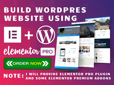 Design Wordpress Website Using Elementor Pro Page Builder