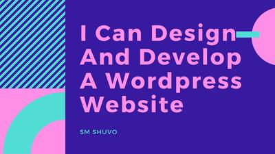 Design And Develop A Wordpress Website