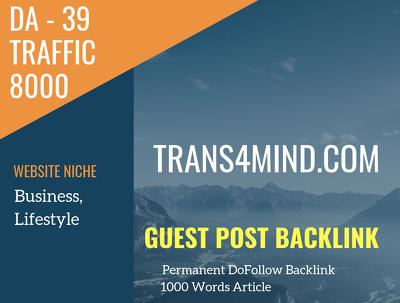 USA Business, Lifestyle Related 8000 Traffic 39 DA Guest post li