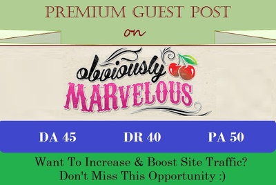 Post A Unique Content on Obviously-marvelous.com - DoFollow Link