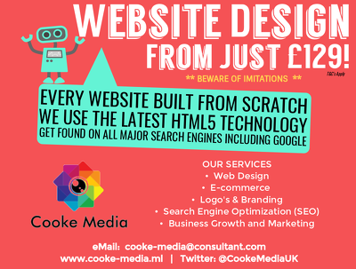 Bespoke, Interactive Website Design from £129 (T&C's Apply)