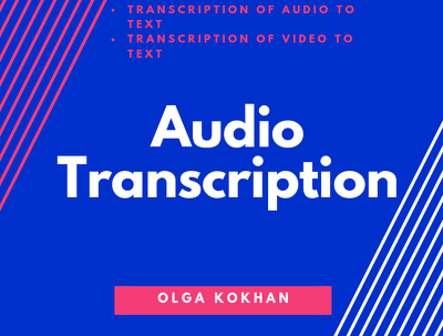 1 hour English Audio Transcription