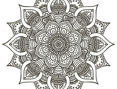 Create 2 Mandalas For Adult Coloring Book