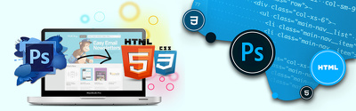 Convert PSD file into fully responsive html & css web design