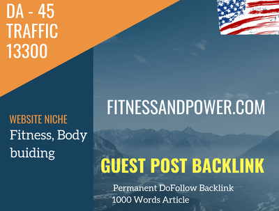 USA Fitness,Bodybuiding Related 13300 Traffic 45 DA Guest post l