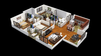 Convert your 2D floor plan to 3D floor plan