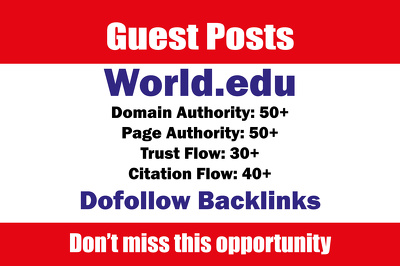 Write and Publish Edu Guest Posts on World - World.edu