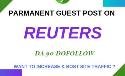 Guest Post on  ,Reuters.com DA 95 PA 100 -with Dofollow links