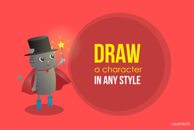 Draw a nice character in any style