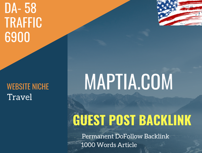USA Travel  Related 6900 Traffic 58 DA Guest post link