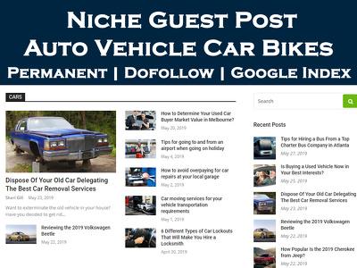 Write & Publish Guest Post on Auto Vehicle Car Bikes Blog