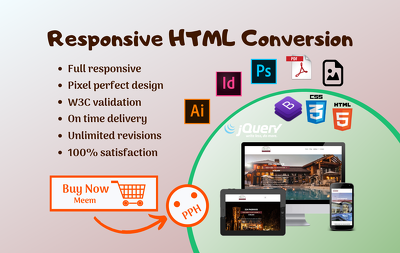 Convert PSD To Responsive HTML Page Using Bootstrap