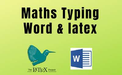 Carefully mathematics typing on Word and Latex