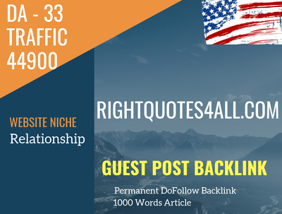 USA Relationship Related 44900 Traffic 33 DA Guest post link
