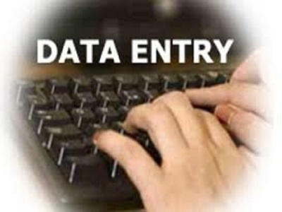 Do all types of data entry work for two hours.